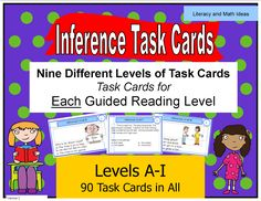 This is the ultimate in differentiation.  Guided reading books are leveled, and task cards can be too!  When you teach inference skills, use the task cards that are at each students' guided reading level.  Students systematically build phonics AND comprehension skills as they progress to each new guided reading level.  This makes reading instruction much easier.$