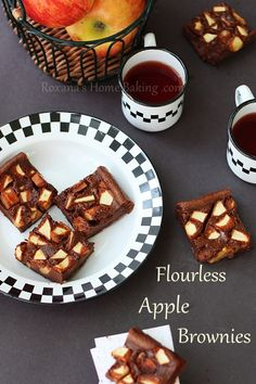 Flourless Apple Brownies (Gluten Free)