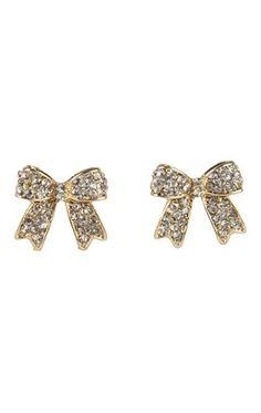 Deb Shops Stone Bow Stud Earrings $3.00