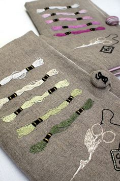 Embroidered embroidery floss