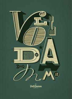 Voll Damm #poster #grafica #tipografia #vintage