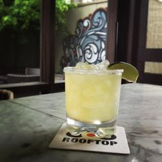Stop by for a refreshing margarita at Rooftop 866 #midtown #atlanta #bar #cocktail