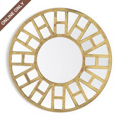 Kirkland's: Distressed Gold Kate Mirror