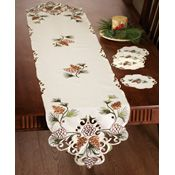 Northwoods Pinecones Table Runner and Doilies Set