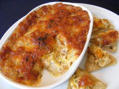 Baked Onion Dip: Chop one large Vadalia onion, mix it with one cup of ...