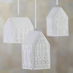 Ceramic House Ornaments from C&B