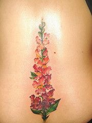 snapdragon flower tattoo | Tattoos | Pinterest