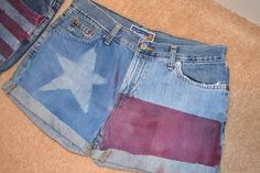 DIY TEXAS FLAG SHORTS!! Y.E.S. Saw these at the Americana Music Jam on Sunday and fell in love with them. TOTALLY doing these!