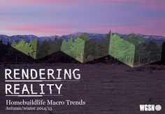 WGSN Creative Direction, Homebuildlife Macro Trends AW14/15 - Rendering Reality.
