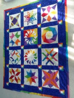 Starshine & Rainbows Quilt by whateverslovely vrom the quiltingboard.com