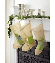 Stitch up stockings from vintage sewing patterns for a fun DIY Christmas craft.