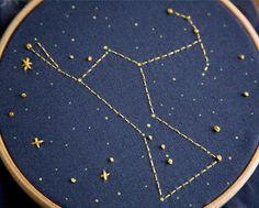 Constellation embroidery.