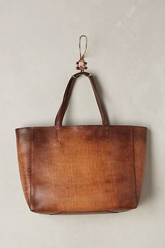 Burnished Leather Tote #anthrofav #greigedesign