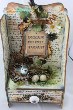 Altered trinket stand with drawer - Scrapbook.com