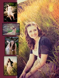 unique Senior Pictures Ideas For Girls | Girls Senior Picture Outdoor Collage