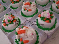 mini bolos de Páscoa
