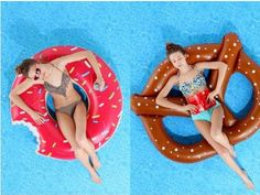 Donut and Pretzel Inflatable Pool Toys
