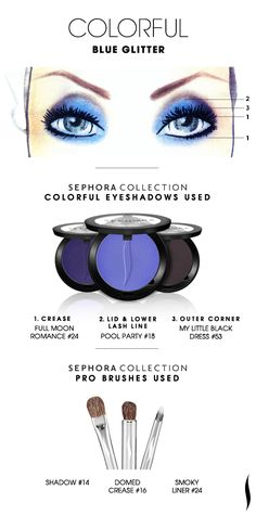 COLORFUL: Blue Glitter HOW TO. #sephoracollection #sephora #eyeshadow