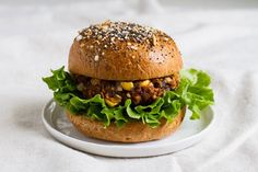 the ultimate loaded veggie burger