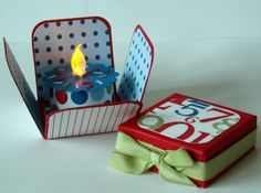 Cake box with no-flame tealight