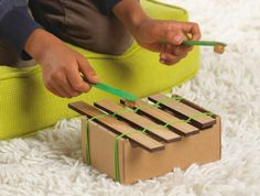 Making Music - Single Crates | Kids Crafts & Activities for Children | Kiwi Crate  #musicalcrafts #funforkids #kidsactivities #diy #xylophone #crafts #kidscrafts