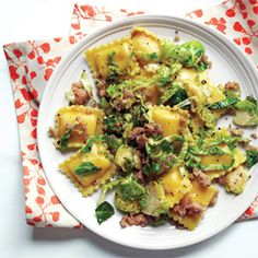 Ravioli with Sausage and Brussels Sprouts Recipe - Delish.com