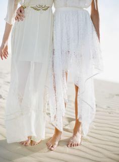 white beach dresses bridal shower