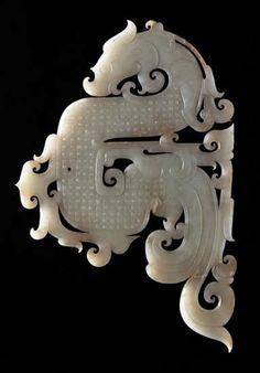 Jade Dragon Pendant 2nd Century BC Western Han Dynasty