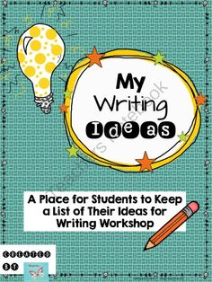 My Writing Ideas: A Place for Students to Keep a List of Writing Ideas from WingedOne on TeachersNotebook.com -  (2 pages)  - A page for students to keep track of their writing ideas!
