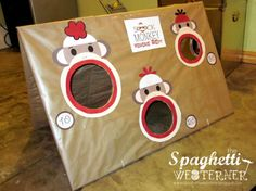 Sock Monkey Bean Bag Toss- how cute and easy to make!