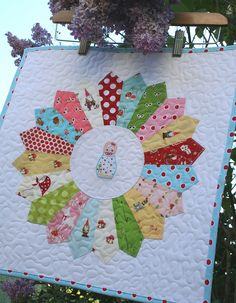 woodland happiness~ mini dresden plate #quilt