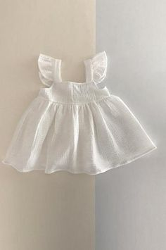 PINAFORE DRESS WHITE