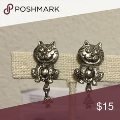 Kitty earrings with