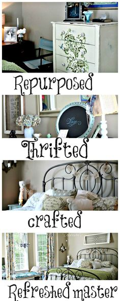 Thrifted, recycled diy bedroom projects