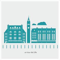 Un tour de Lille / illustration wwww.marieclairegrafilles.com