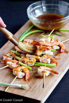 Grilled Teriyaki Shrimp Recipe from @cookincanuck