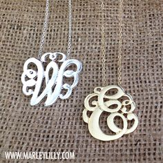 Monogrammed Single Initial Cut Out Necklace