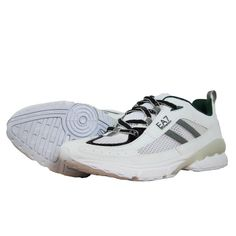 EA7 Emporio Armani Mens Trainers in Eggshell - official sponsors of the Italian 2012 Olympic team.  Visit www.hypedirect.com