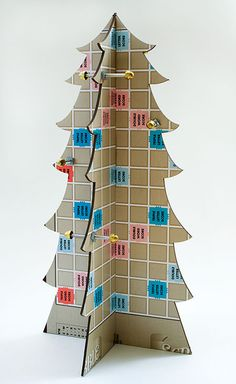 upcycled gameboard tree