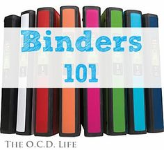 The O.C.D. Life: Binders 101: The Wrap-Up!
