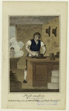 Hat-Maker, July 7, 1804,  New York Public Library
