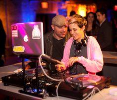 Samantha Ronson spinning at Borgata Lounge at 82 Mercer #nycwff