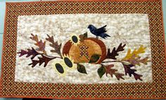 Quilted Wall Hanging Harvest Table Quilt by HollysHutch on Etsy