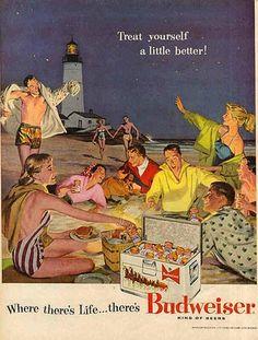 Vintage Budweiser Ad