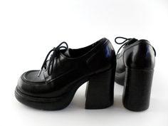 90s Platform Shoes Sz 6 // 90s Shoes 6 90s Grunge Club Kid // Chunky 90s Shoes // Mega Platform on Etsy, $58.00 Shoe Sz, Grung Club, Club Kids, Mega Platform, Platform Shoes, 90S Platform, 90S Shoes, 90S Grunge