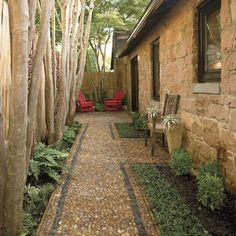 Small side patio