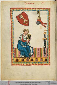 Codex Manesse, Der von Gliers, Fol 066v, c. 1304-1340