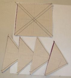 Half-Square Triangle, 8 at once. craft, quilt block, halfsquar triangl