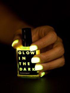 $6 American Apparel Glow in the Dark Nail Polish -Jupiter American Apparel, http://www.amazon.com/dp/B00AE2UCKM/ref=cm_sw_r_pi_dp_RSTgrb0SM7PDY