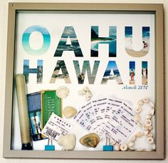 Make a honeymoon keepsake/shadow box and fill it with mementos and small souvenirs from your trip - great wedding gift idea from the bride to groom or vice versa